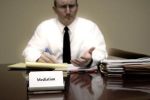 Attorney at Desk for Mediation